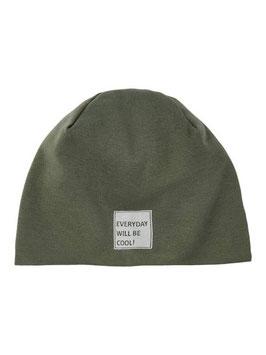 "Kopfbedeckung - Mütze - ""EVERYDAY WILL BE COOL""  - Thymegrün - NAME IT KIDS"