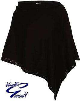 Poncho schwarz - Damen Tracht