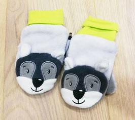 Handschuhe - Hundegesicht - grün - grau - Sterntaler