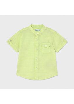 Hemd - kurzarm - Leinen - Mao-Kragen - Baby  - Jungen - minze - MJ
