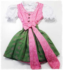 Tracht - Baydirndl -  Katy - grün rose - SET - Gr 62 - Tracht Mädchen
