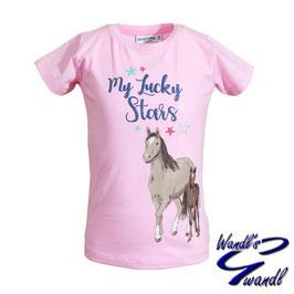 Shirt - Pferd - rosa - meine Glückssterne - Biobaumwolle