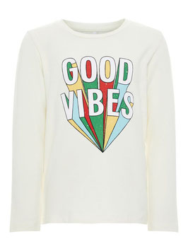 Shirt - good vibes weiß - NAME IT MINI JUNGEN
