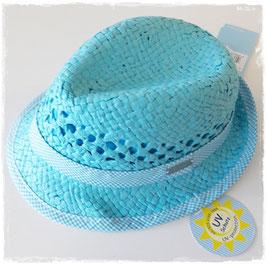 Kopfbedeckung - Sommer - Sonnenhut aqua - UV - Schutz 50+ - Sterntaler