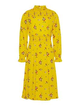 Blumenprint Kleid gelb