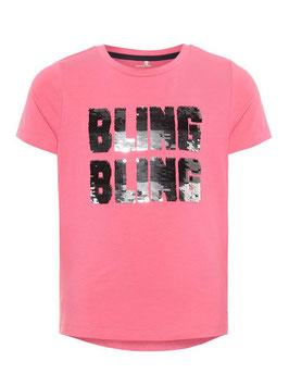 Shirt - T-Shirt rosa mit Wendepailletten - NAME IT KIDS MÄDCHEN