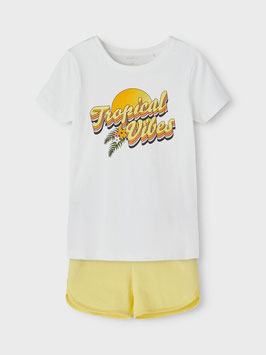 Sommerset inkl. Hose - Tropical Vibes - Weiß / gelb - NAME IT KIDS MÄDCHEN