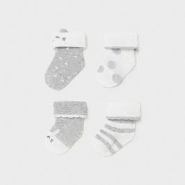 Socken 4 er Set - grau -´weiß - Neugeborene - Mädchen - Mayoral