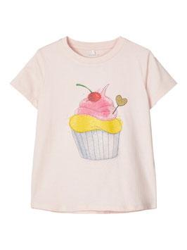 Shirt - Glitzershirt rosa - NAME IT MINI MÄDCHEN