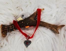 Trachtenkette rot mit Herz - Tracht Damen
