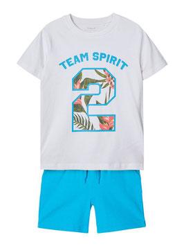 Sommerset - AKTION - Team Spirit - weiß - aqua -  NAME IT KIDS JUNGEN