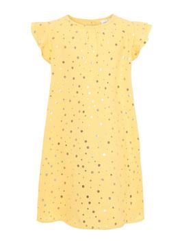 Mädchenkleid gold gepunktet von name it