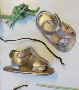 Schuhe - Babyschuhe - Sandale - Gr 15 - champagner - gold - Taufe