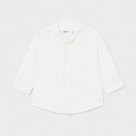 Hemd - Babyhemd - langarm oder kurzarm in einem  - weiß - Stehkragen -  Mayoral - TAUFE - FESTMODE