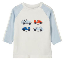 Baby Shirt mit Automotive hell - NAME IT BABY JUNGEN