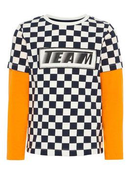 Shirt - Karoshirt orange - NAME IT MINI JUNGEN