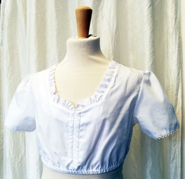 Tracht - Bluse - schlicht - weiß - Trachtenbluse für Kinder - Dirndlbluse - Tracht Mädchen