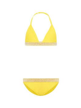 Bademode - Mädchenbikini gelb triangel von name it - NAME IT KIDS MÄDCHEN