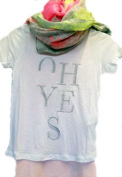 Besticktes Viskose T - Shirt weiß - NAME IT KIDS MÄDCHEN