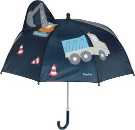 Regenschirm - Baustelle - marine