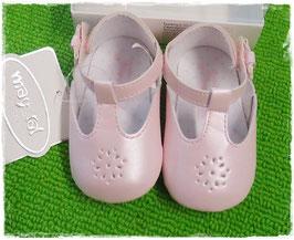 Schuhe - Babyschuhe - Spangenschuhe rosa mit Lochmuster - TAUFE