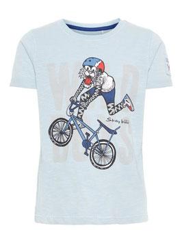 T - Shirt bedruckt-Tiger mit Fahrrad