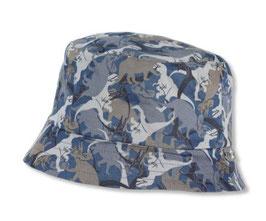 Kopfbedeckung - Fischerhut - blau - grau - Dino - Zoo - UV Schutz - Sterntaler