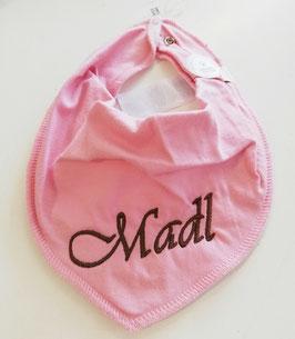 """Tracht - Latzerl mit  rosa mit brauner """"Madl"""" Stickerei - Tracht - Mädchen"""