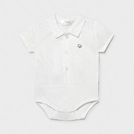 Body - Body Hemdkragen - kurzram - weiß -  Neugeborene - Jungen - Mayoral - Taufe - Festmode