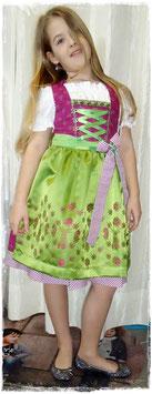 Teenie Dirndl - Modell Blumenwiese - Tracht Mädchen