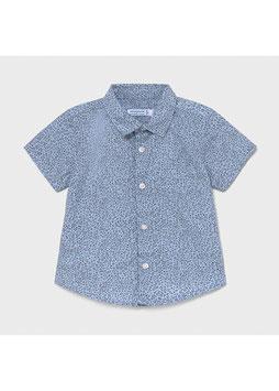 Hemd - Kinderhemd - kurzarm - hellblau - gemustert - MINI BOY - MJ