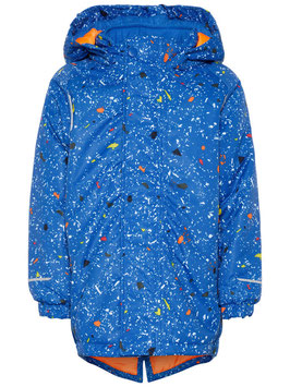 Winterjacke-wasserdicht-blau - NAME IT MINI JUNGEN