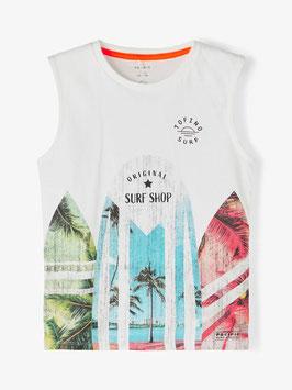 Shirt - ohne Arm - Top - Surf Shop Original - weiß - NAME IT KIDS JUNGE