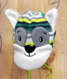 Kopfbedeckung - Hund - Ohren - grün - grau - ivory - Sterntaler