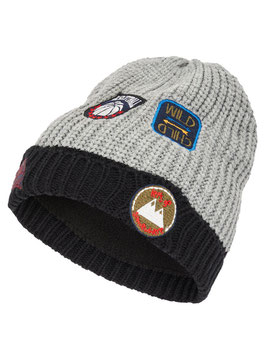 Kopfbedeckung - Mütze - Strickmütze mit Patches - NAME IT MINI JUNGEN