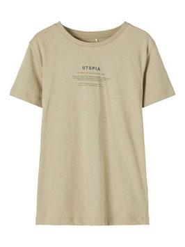 Shirt - kurzarm - UTOPIA - kaki - Print - AKTION - NAME IT KIDS JUNGEN
