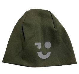 Kopfbedeckung - Mütze - Beanie reflektierend in kaki - NAME IT KIDS