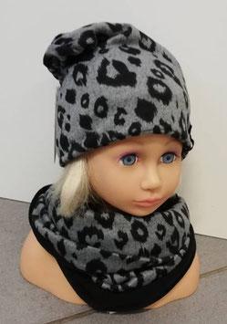 Kopfbedeckung - Beanie - Tiger - schwarz - grau - Sterntaler
