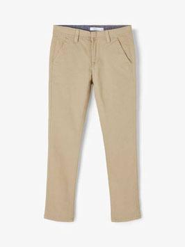 Hose - CHINO - super stretch - Baumwollhose - beige - NAME IT KIDS JUNGEN