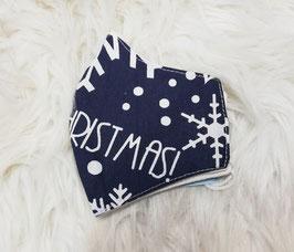 Mund-Nasen-Maske-Kinder - Weihnachten - blau - Sterne