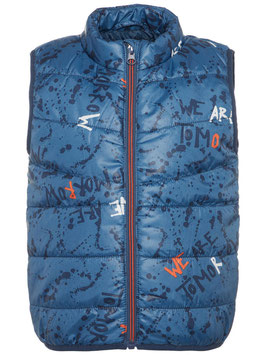 Gilet mit Print in indigoblue - NAME IT MINI JUNGEN