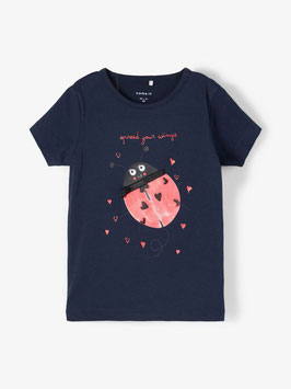 Shirt - dark sapphire - Maikäfer mit Zipp - NAME IT MINI GIRL MÄDCHEN