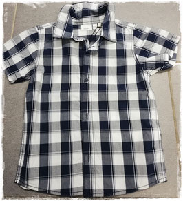 Hemd - Kinderhemd karo kurzarm weiß -blau - NAME IT MINI JUNGEN