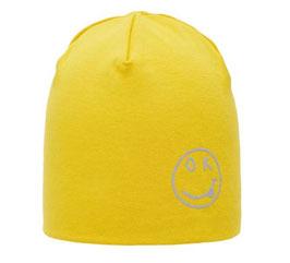 Kopfbedeckung - Mütze - Beanie - Smile - reflektierend gelb - NAME IT MINI