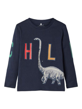 Shirt - Dino - CHILL Shirt blau - NAME IT MINI JUNGEN