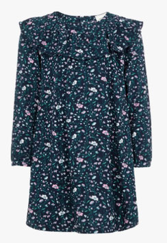 Blumenprint Kleid blau - NAME IT MINI MÄDCHEN
