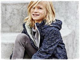 Jacke - mit Baumwollfutter - blau gemustert - NAME IT KIDS JUNGEN