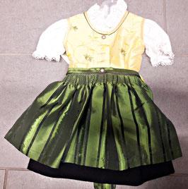 Babydirndl - gelb grün - Tracht Mädchen