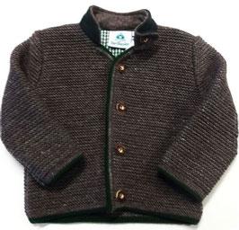 Tracht - Jacke - Kindertrachten Jacke - braun/grün mit Stehkragen -  Babytracht - Kindertrachten