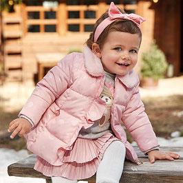 Winterjacke - Punkte - Baby - Mädchen - rosa - Mayoral